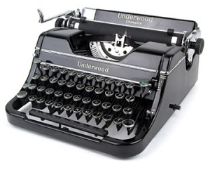 Gammel skrivemaskine